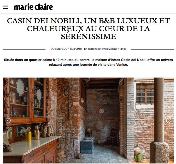 Casin Dei Nobili on MarieClaire France